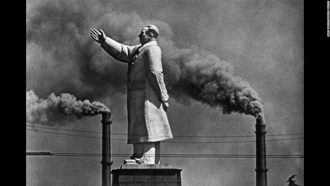 "A statue of Chinese leader Mao Zedong is seen in an industrial center of Wuhan, China, in 1971. Riboud ""was a terrific photographer, and of particular note was his pioneering work in China, which he first visited in the late 1950s and continued to photograph over the next three decades,"" said Magnum President Martin Parr."