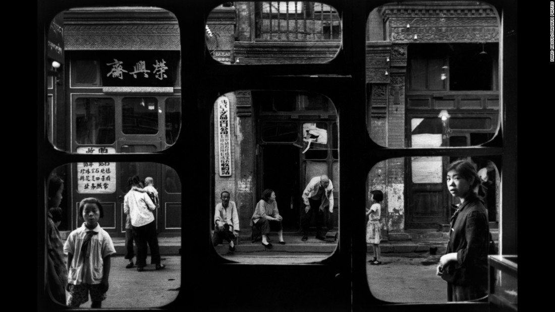 A street in Beijing, as seen from an antique dealer's shop in 1965.