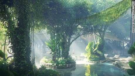 Dubai's latest megaproject: a rainforest in the desert.