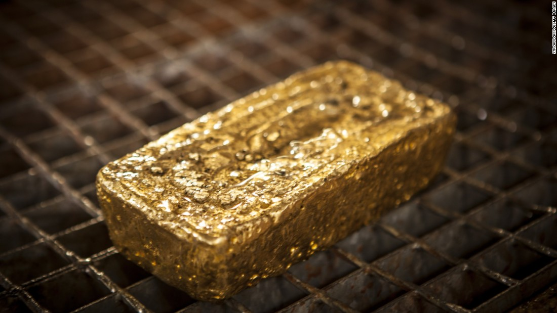 The first gold ingot produced at the Agbaou mine, worth over half a million dollars.