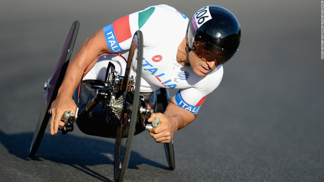 Alex Zanardi was a racing driver until he lost both legs in a horrific CART crash in 2001. He tried hand cycling in 2007 and later became a Paralympic athlete. He won two gold and silver at London 2012, and is a world champion in road race and time trial events.