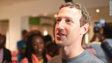 Mark Zuckerberg in Lagos August 2016