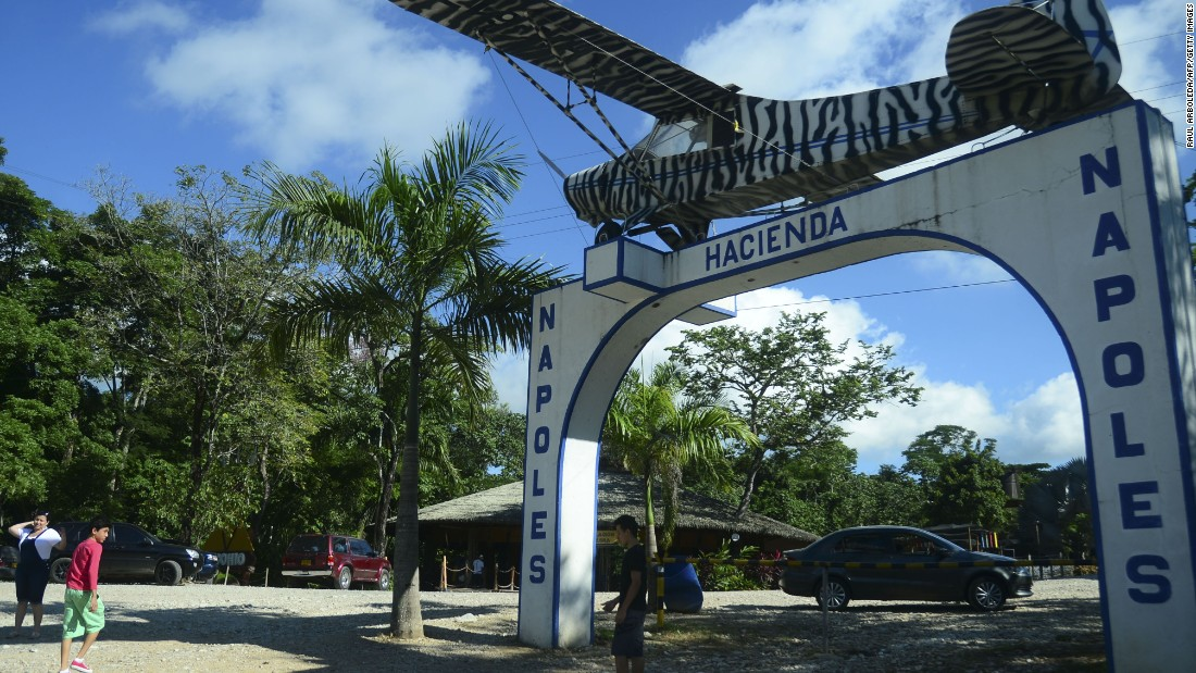 Pablo Escobar and his family lived in Hacienda Napoles, a vast and tony ranch in Colombia about 100 miles east of Medellín. The ranch, which included three zoos full of exotic animals, has since been turned into a theme park.
