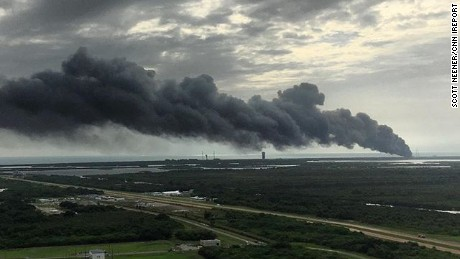 Explosion at Cape Canaveral Air Force Station