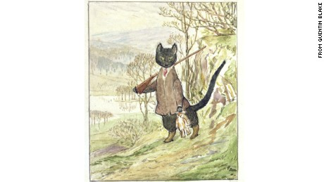"Beatrix Potter left behind only one sketch of ""Kitty-in-Boots."""