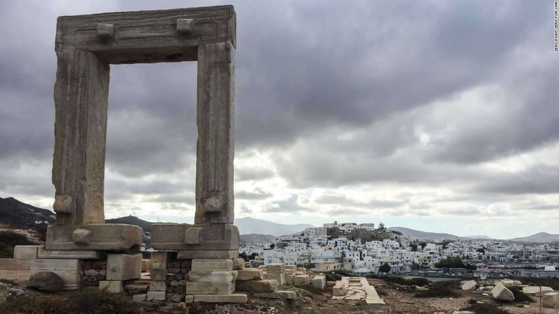 "On the Greek island of Naxos, ""there's a lot of delicious food. The place is, as one would expect, gorgeous. But there are surprises,"" Bourdain said."