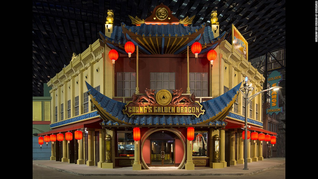 Pan-Asian restaurant Chang's Golden Dragon, in the Marvel zone, is one of 28 dining outlets. There are also 25 retail stores on site.