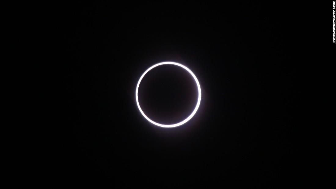 "A rare <a href=""http://www.cnn.com/2016/09/01/africa/ring-of-fire-solar-eclipse-hits-african-skies/"" target=""_blank"">""ring of fire"" solar eclipse</a> is seen from the French island of Reunion, in the Indian Ocean, on Thursday, September 1. The eclipse occurs when the circumference of the sun shines brightly from behind the moon. Residents in Gabon, Congo, Tanzania and the northern part of Madagascar were treated to a direct view of the spectacle as the moon passed between the Earth and sun."