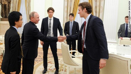 "Eton's Trenton Bricken wrote on Facebook that Vladimir Putin ""was small in person but not in presence."""