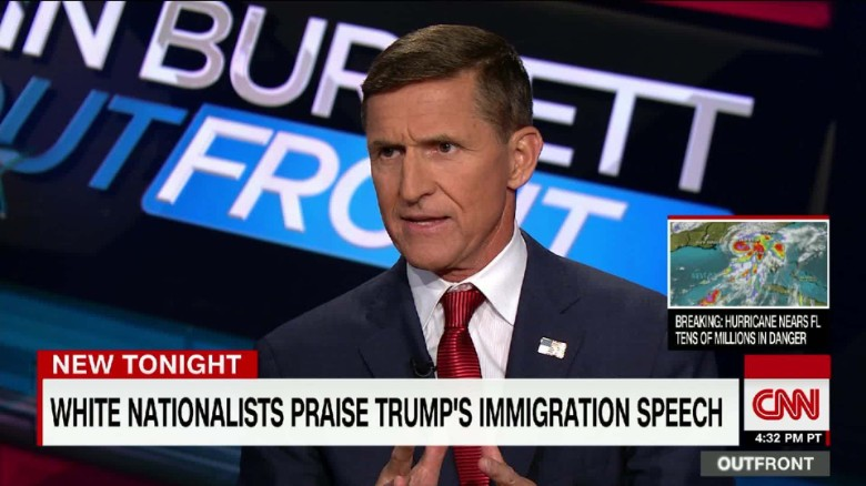 cnn erin burnett general michael flynn donald trump david duke_00004103