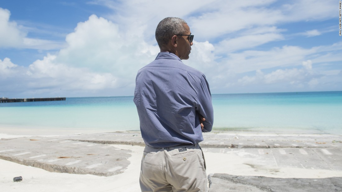 Barack Obama toured Midway Atoll in the Papahanaumokuakea Marine National Monument on Thursday.