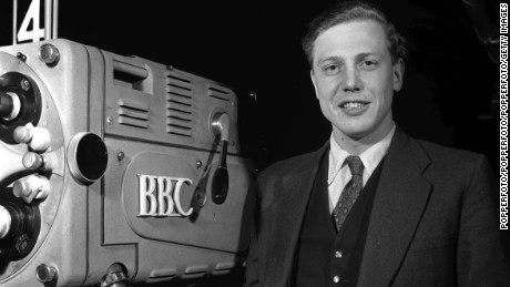 Attenborough at the BBC in 1965.