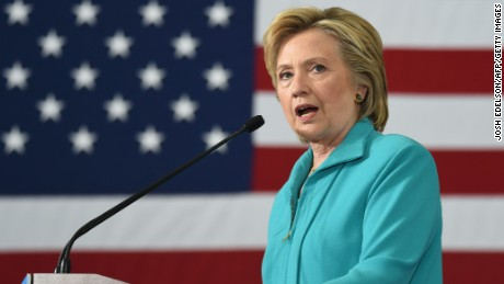 Democratic presidential candidate Hillary Clinton speaks at a campaign event in Reno, Nevada on August 25, 2016. Clinton remarked that her opponent, Republican presidential candidate Donald Trump, runs a campaign based on prejudice and paranoia.  / AFP / JOSH EDELSON        (Photo credit should read JOSH EDELSON/AFP/Getty Images)