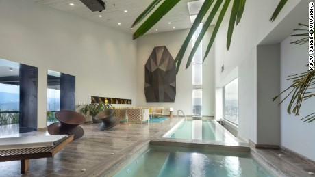 A private pool is just one deluxe feature of the presidential suite at the InterContinental in Mexico City.