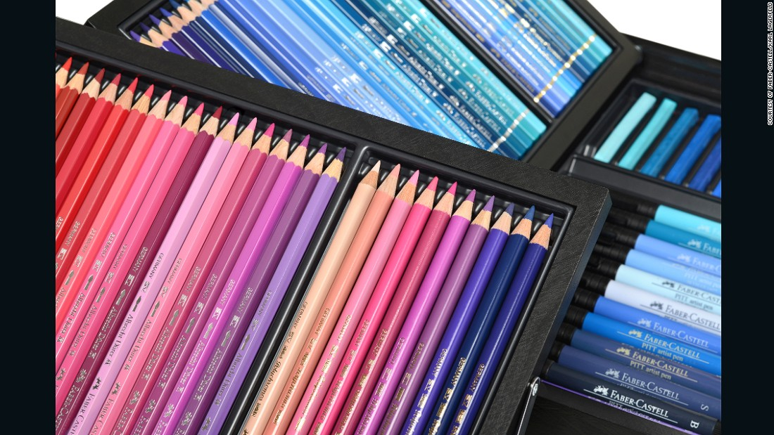 This includes over 120 shades of watercolor pencils.