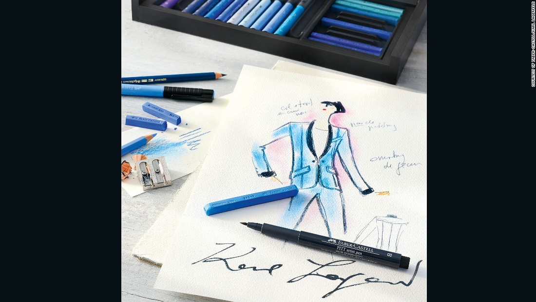 """Since I was a child in Germany, Faber-Castell has been the most famous brand, known for its especially good quality,"" says Lagerfeld. <br /><br />""That reputation remains just as true today, particularly for artist pencils."""
