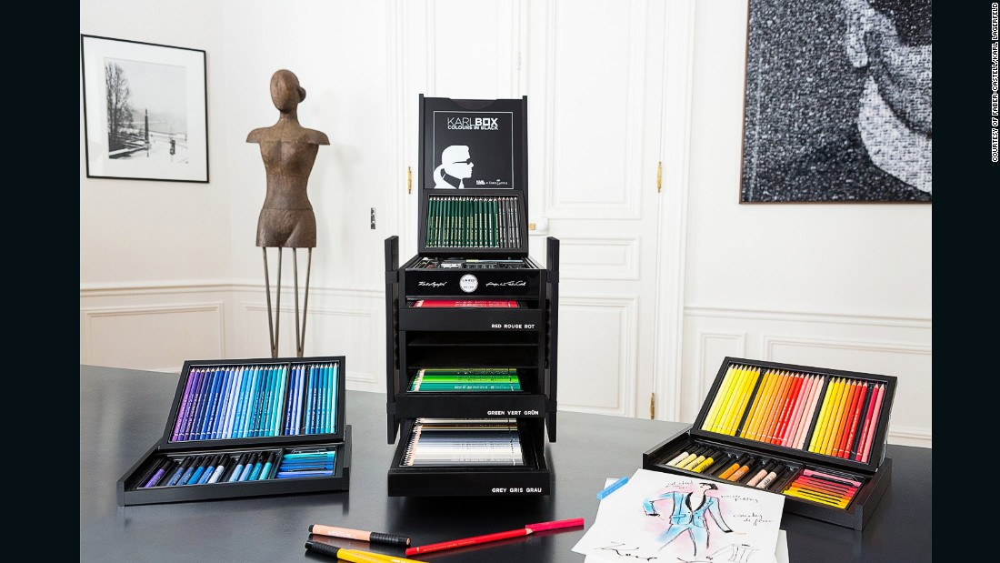 Chanel Creative Director Karl Lagerfeld has teamed up with Faber-Castell on a limited edition art supplies box.