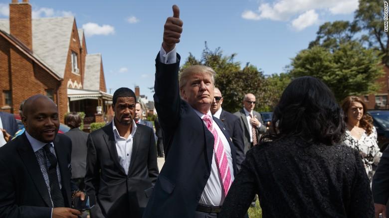 Trump's uphill climb: courting minority voters