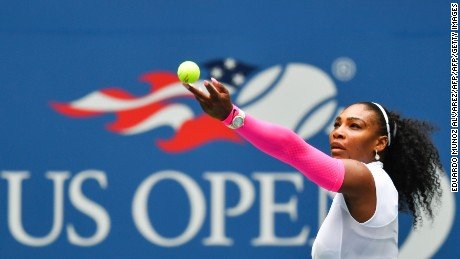 US Open 2016: Serena Williams dons 'Wonder Woman' sleeves to beat record