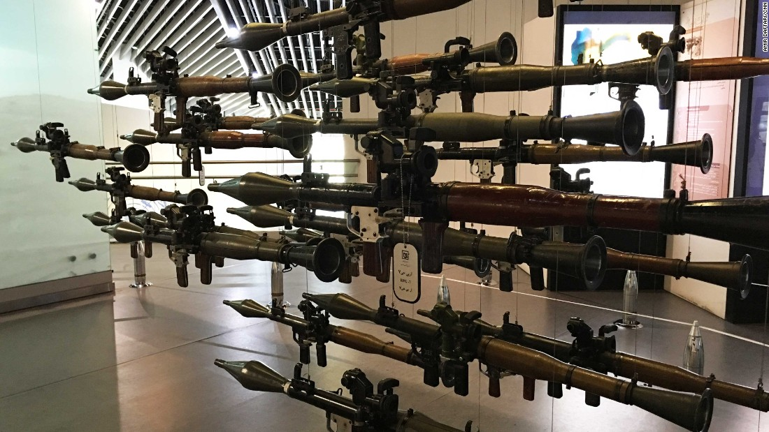 Although there are plenty of tanks and weapons on display -- including these Russian-designed rocket launchers -- the museum is more than a showcase of Iranian military history. CNN's Amir Daftari says its approach to its tragic subject matter is imaginative, innovative and sensitive.