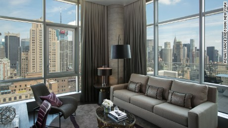 Renaissance Midtown's new Empire Suite brings the city inside with panoramic views.