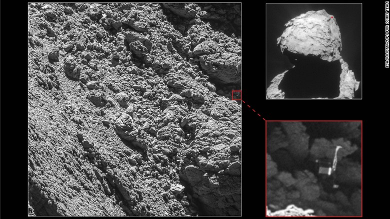 Lost Philae lander found on comet