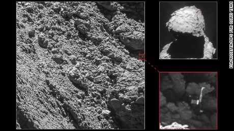 Space probe finds lost Philae lander on comet