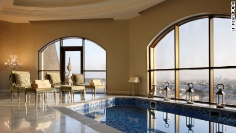 In the dome of the St. Regis Dubai, the presidential suite's private plunge pool awaits.