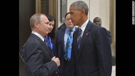 Obama and Putin met in Hangzhou.