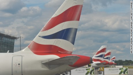 "British Airways on Saturday was ""experiencing a global system outage,"" the airline said."