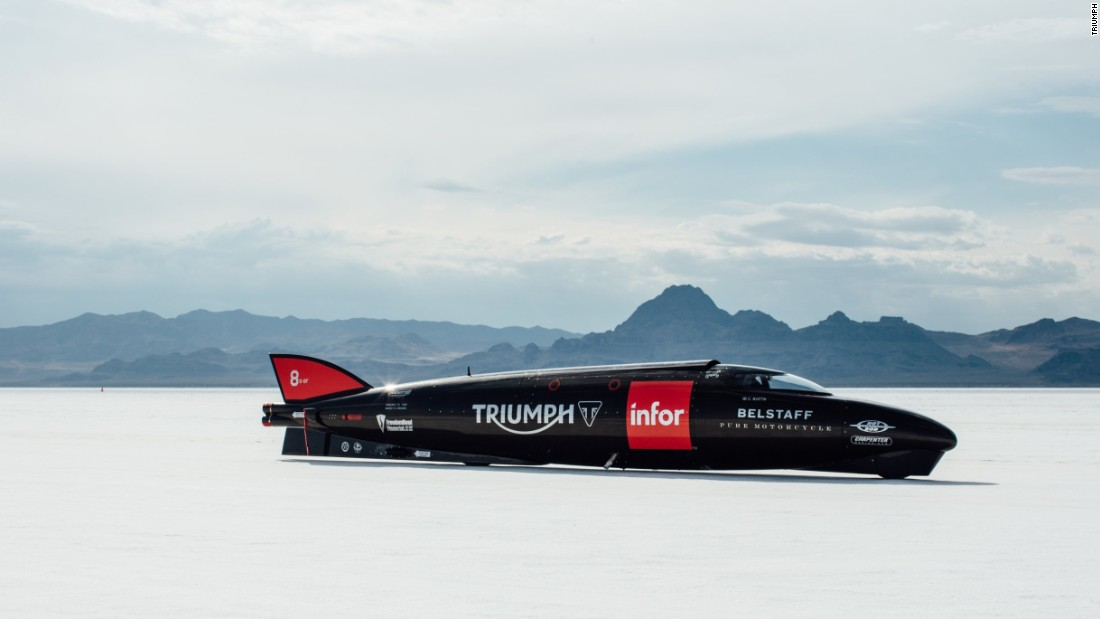 The Triumph team converged on the Bonneville Salt Flats, a 40-square-mile salt pan in Utah with a reputation for hosting land speed records.