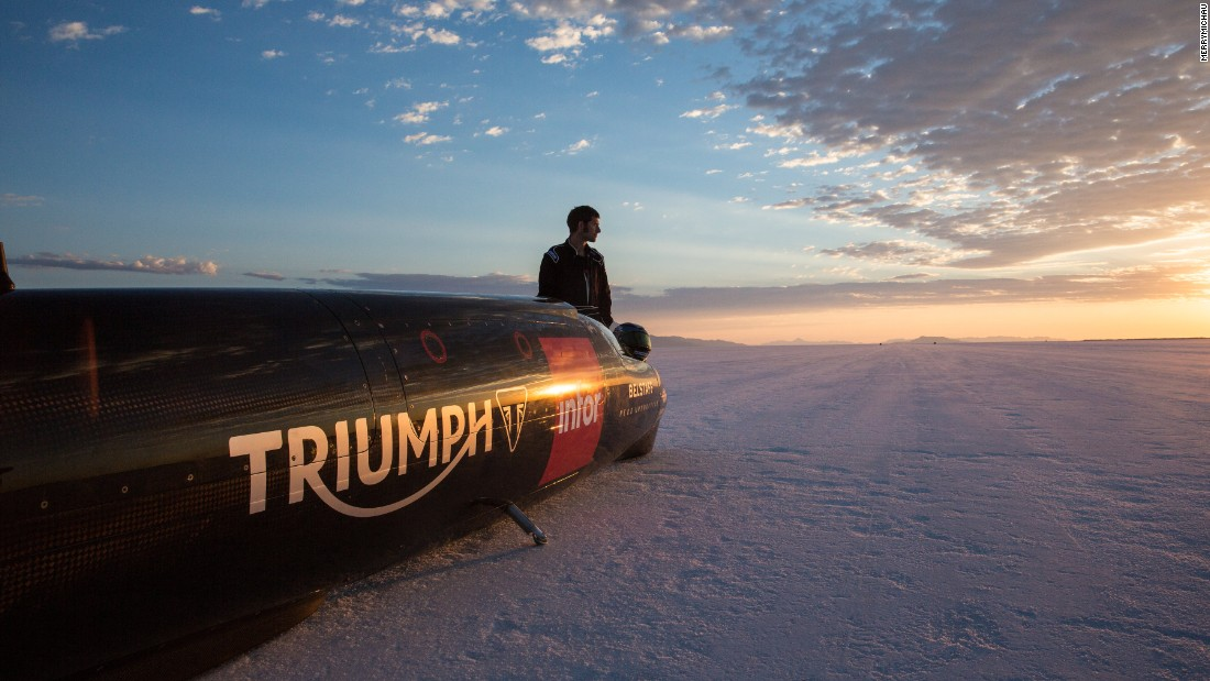 British motorcycle company Triumph is attempting to break the land speed record.
