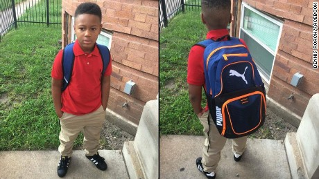 """Son ready for first day of school(2nd grade)Lord I plead your blood over his life protect him and those around him as he go to and from in this crazy city of Chicago (southside) in Jesus mighty name Amen"""
