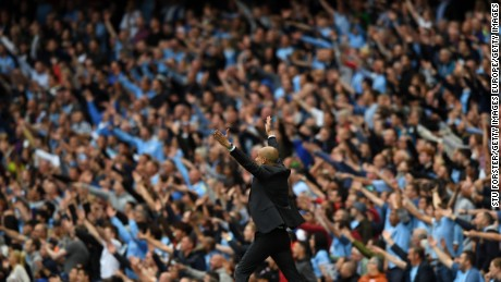 Pep Guardiola already seems at home at the Etihad.