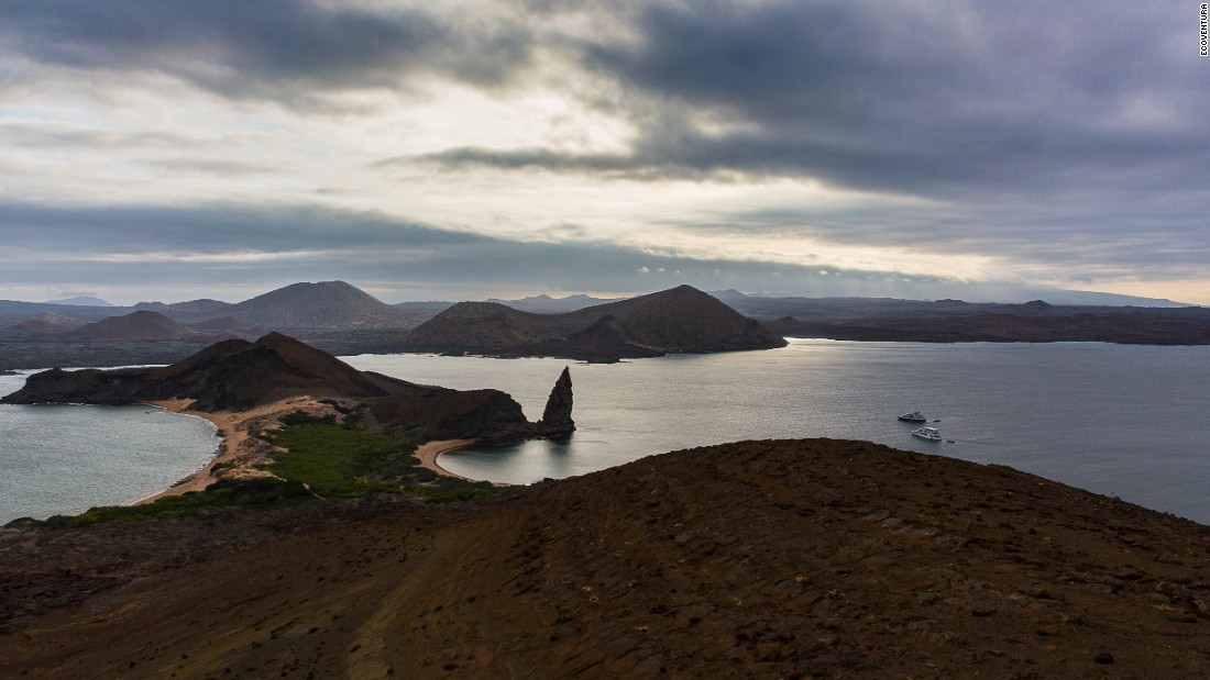 As part of a 7-night Ecoventura cruise through the Galapagos, travelers can hike daily at each island on their itinerary. An expert guide tours guests through  lava fields and beaches while pointing out resident wildlife.