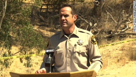San Luis Obispo County Sheriff Ian Parkinson near the excavation site.