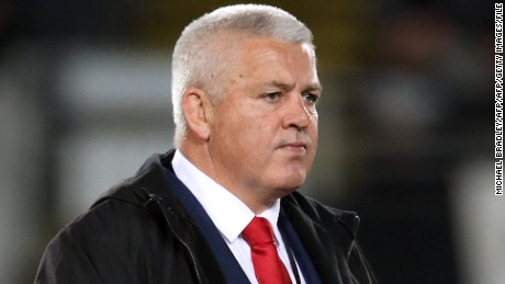 In this photo taken on June 11, 2016, Wales' rugby coach Warren Gatland looks on prior to the rugby Test match between the New Zealand All Blacks and Wales at Eden Park in Auckland.  Wales is seeking to end a 63-year losing streak against New Zealand at Wellington's Westpac Stadium on June 18. / AFP / MICHAEL BRADLEY        (Photo credit should read MICHAEL BRADLEY/AFP/Getty Images)