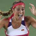 monica puig celebrates rio final