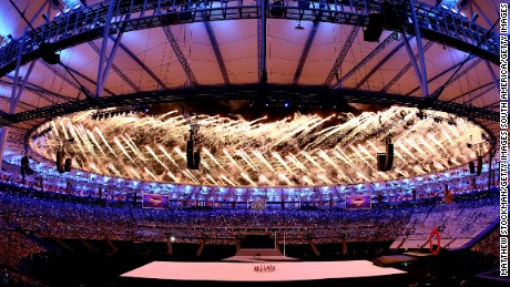 The Paralympic Games got under way against a backdrop of color and samba.