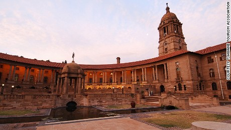 The Union Buildings, fronted by a Nelson Mandela statue, may be Pretoria's most prominent landmark.