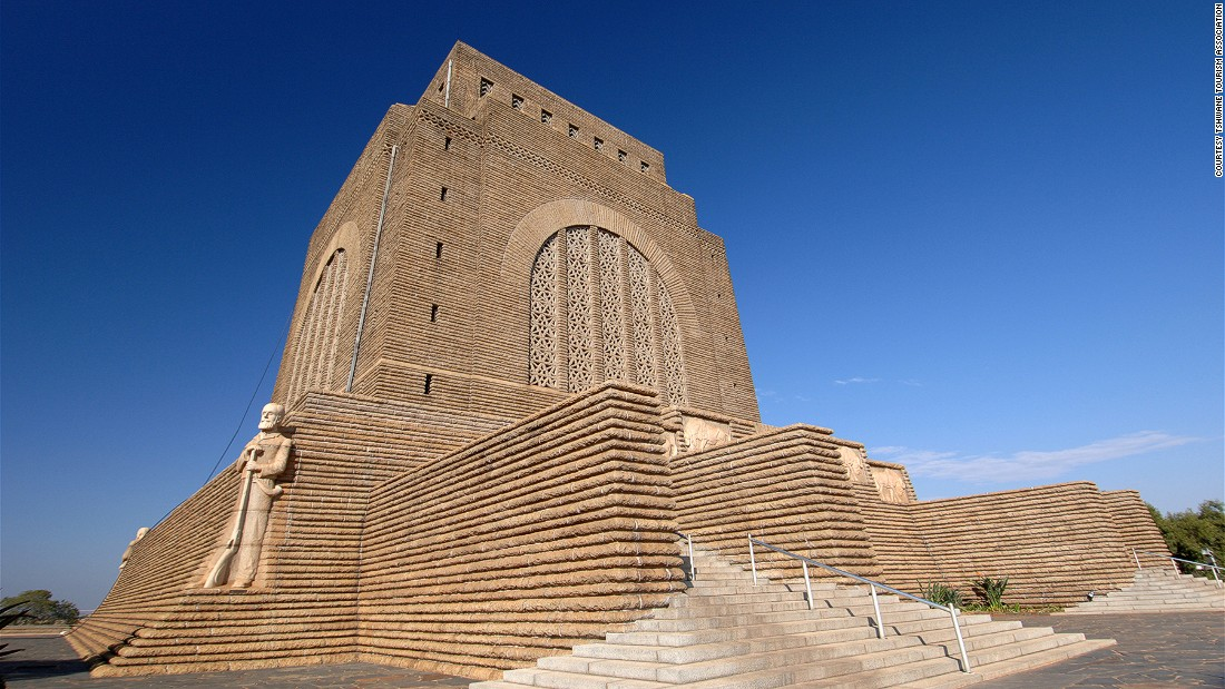 Standing on a hilltop, Voortrekker Monument commemorates the Afrikaner farmers who left the British Cape colony and founded the two independent Boer republics.