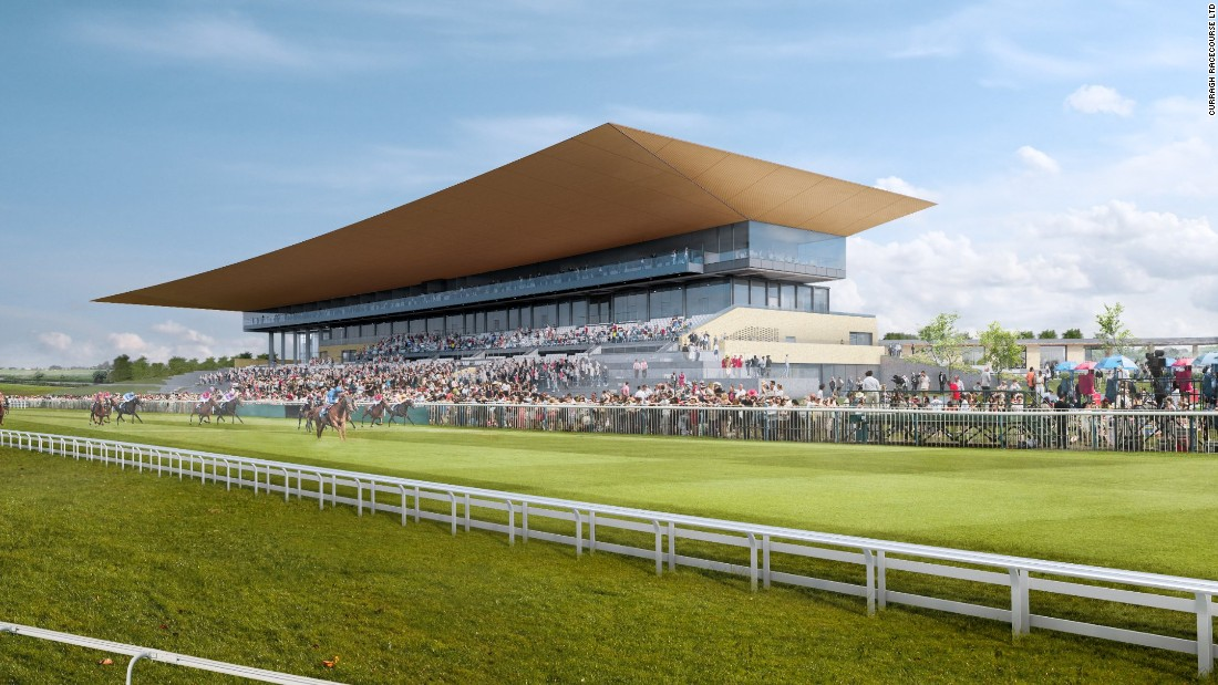 A side view of the proposed new grandstand at the Curragh. The first race at the venue was recorded in Cherney's racing calendar in 1727.