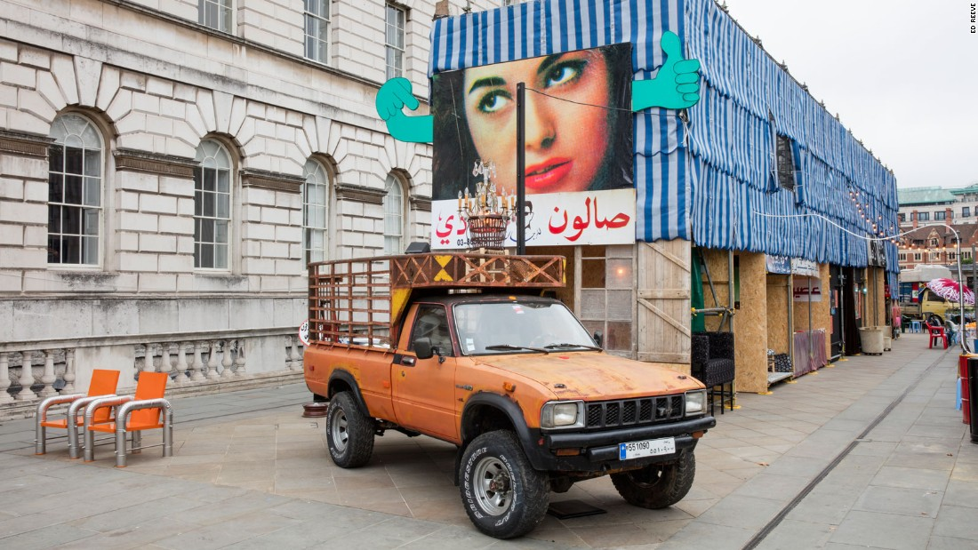 London-based architect and designer Annabel Karim Kassar was behind the Lebanese entry to the Biennale. In collaboration with an extensive design team, she recreated Beirut's bustling street-life wish an interactive installation featuring a falafel vendor, a mattress maker, a juice vendor, and even a barber, amongst other stalls. <br />