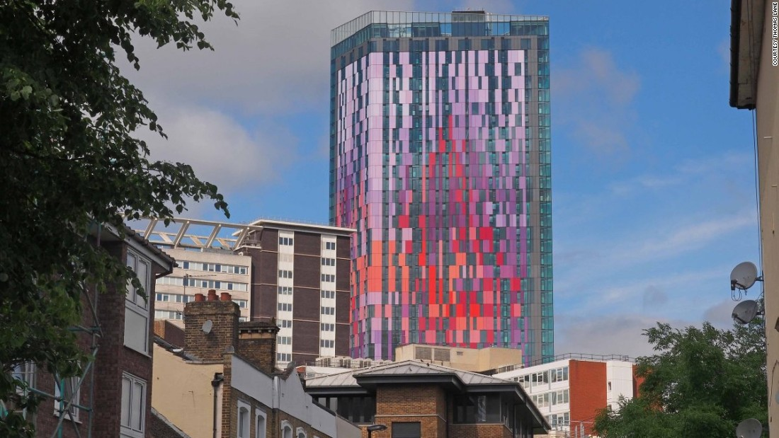 """Croydon town centre is in desperate need of regeneration but, guys, tone the colours down a bit,"" the editors wrote of Rolfe Judd's colorful tower."