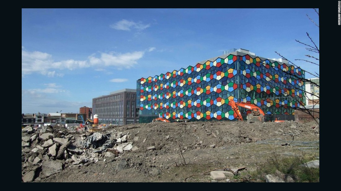 """An aesthetic mutation between the nostalgic 1980s brain games of Connect 4 and Blockbusters might not seem like a natural breeding ground for architectural malevolence but this building proves what happens when colour goes rogue,"" Building Design wrote of this unique structure."