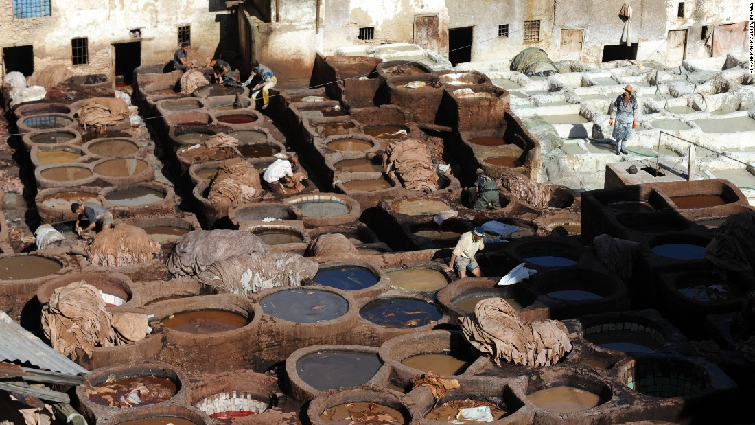 "Jubber worked in the tanneries of Fez at the start of his adventure. ""As organically decrepit as Heironymous Bosch's hell, the Ain Azeltoun tannery may well be the stinkiest place in the whole of Fez,"" he said when recording the experience."