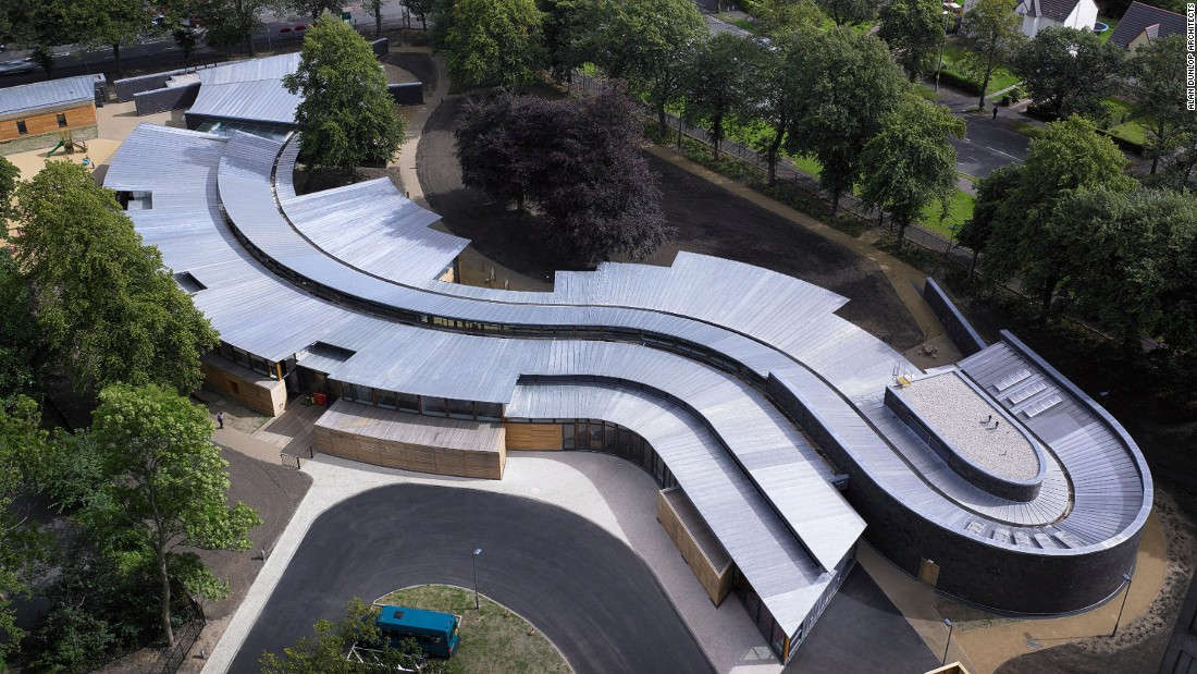 """Designed for students who are both blind and deaf, this is a very sensitive school project in terms of site placement, materials and form. There is a wonderful sense of scale, spatial modulation, use of natural light and tactile materials,"" said the American Institute of Architects' John Dale. <br />"