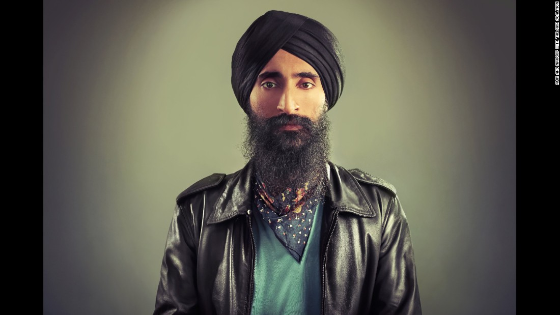 "For Sikhs, the turban is not about culture, it's an article of faith that is mandatory for men. The turban is also a reason why Sikh men have been targeted and attacked in America, especially after 9/11. Turbans are featured in ""The Sikh Project,"" an exhibition that runs from September 17-25 in New York and celebrates the Sikh American experience. British photographers Amit and Naroop partnered with the Sikh Coalition for the show. This photo is of New York actor and designer Waris Singh Ahluwalia, who was kicked off an Aero Mexico flight in February after refusing to remove his turban at security."