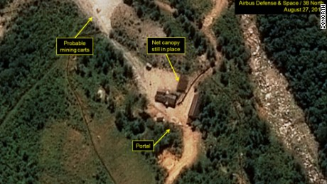 Recent satellite images of the North Korea test site show movement, monitoring site 38North says.
