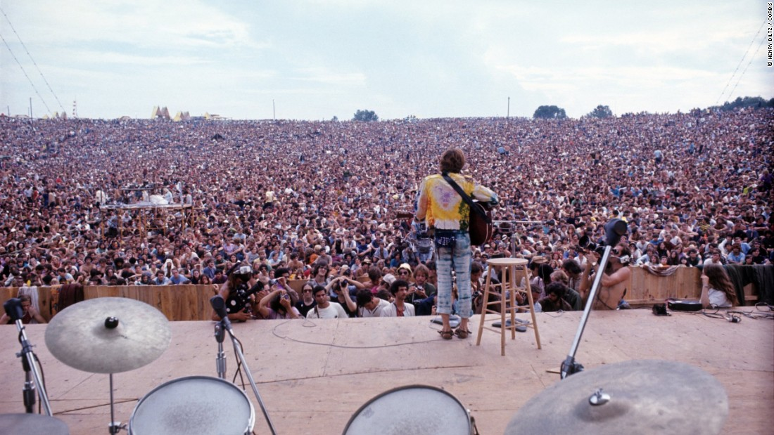 """They were expecting maybe 150,000 people and they got 500,000 people. We're looking at it as a kind of Utopia. If you can gather 500,000 people together who are like-minded, that makes a huge difference."" <br /><em><br />John Sebastian performing at Woodstock</em>"
